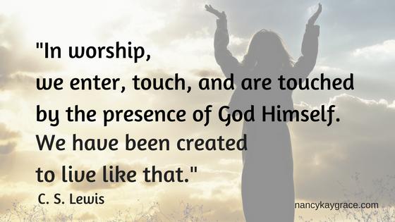 CS Lewis worship quote